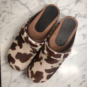 Sanita calf hair clogs worn 1x - size 11/42!